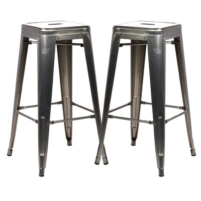 Alyssa 30 Bar Stool Color: Polished Gunmetal