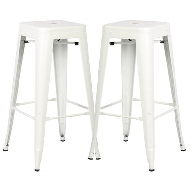 Alyssa 30 Bar Stool Color: White