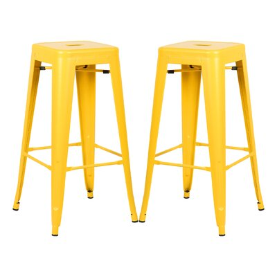Alyssa 30 Bar Stool Color: Yellow