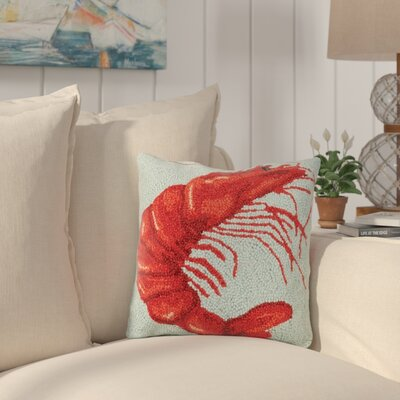 Dykstra Shrimp Wool Throw Pillow