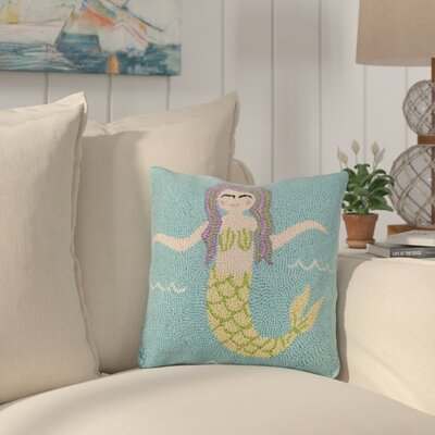 Hinz Pastel Mermaid Wool Throw Pillow
