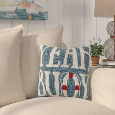 Eaker Yeah Buoy Wool Throw Pillow