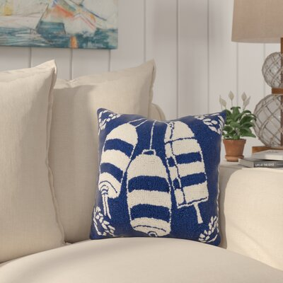 Eady Buoy Nautical Wool Throw Pillow