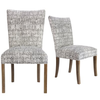 Garavan Upholstered Dining Chair Upholstery Color: Charcoal/White