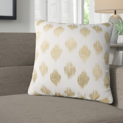 Behan Dot 100% Cotton Throw Pillow Color: Gold