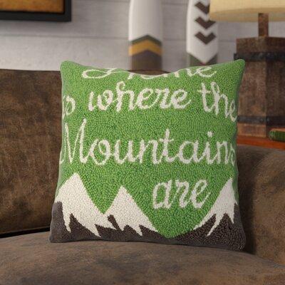 Rhoads Mountain Home Wool Throw Pillow
