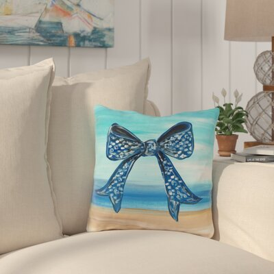 Holmberg Bow Outdoor Throw Pillow Size: 16 x 16