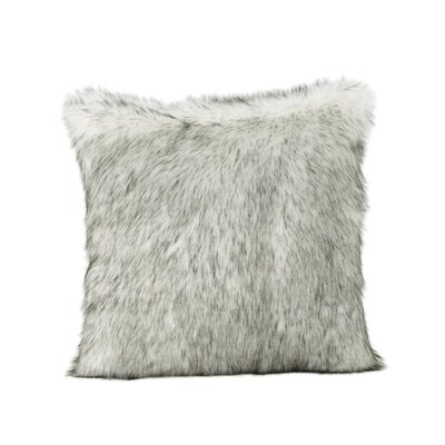 Hunziker Faux Fur Throw Pillow Color: White/Gray Streaks