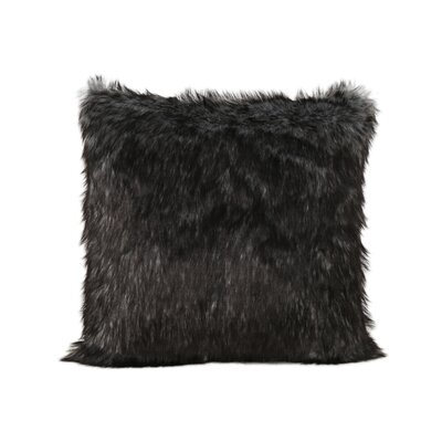 Hunziker Faux Fur Throw Pillow Color: Black/White Streaks