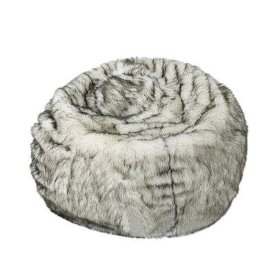 Hunziker Bean Bag Chair Upholstery: White/Gray Streaks