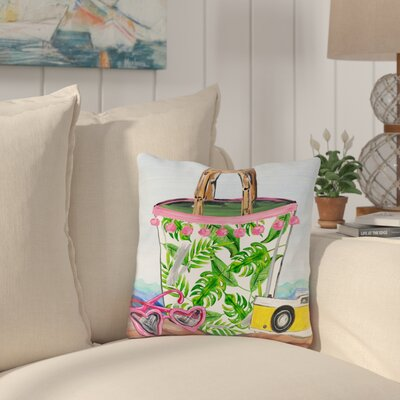 Palomar Bag Outdoor Throw Pillow Size: 16 x 16