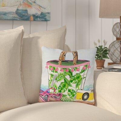 Palomar Bag Outdoor Throw Pillow Size: 18 x 18