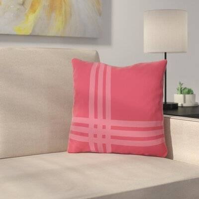 Billington Sand Outdoor Throw Pillow Color: Rose