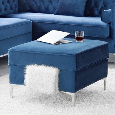 Landeros Storage Ottoman Upholstery: Navy
