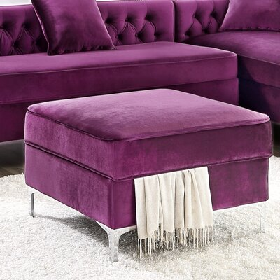 Landeros Storage Ottoman Upholstery: Purple
