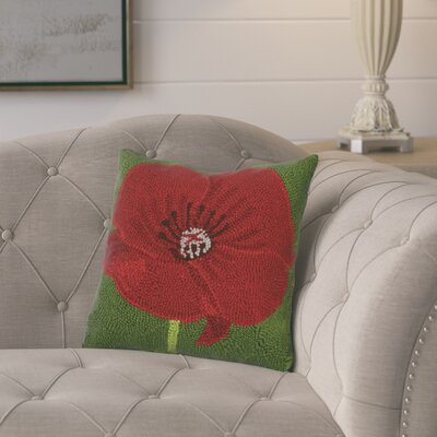 Gammage Poppy Wool Throw Pillow