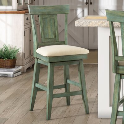 Colasanto 25.78 Swivel Bar Stool Frame Color: Aqua