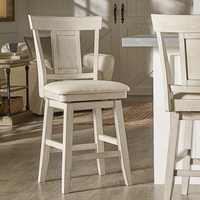 Colasanto 25.78 Swivel Bar Stool Frame Color: White