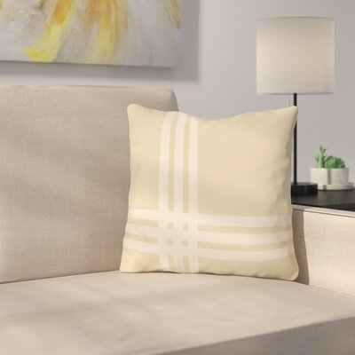 Billington Sand Outdoor Throw Pillow Color: Sand