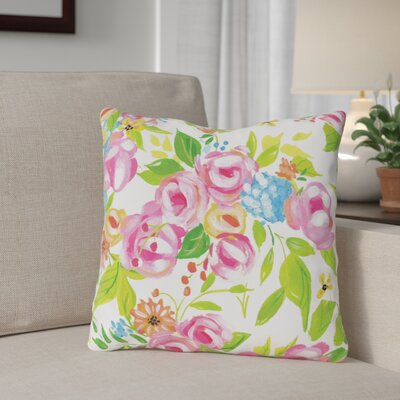 Barrales Flower Buds Throw Pillow Size: 16 x 16
