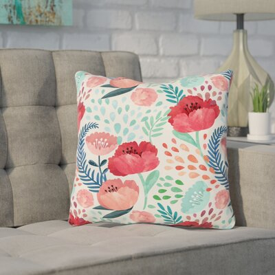 Erato Outdoor Throw Pillow Size: 18 x 18