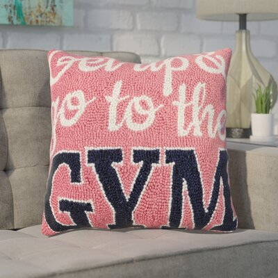 Dykstra Get Up and Go to the Gym Wool Throw Pillow