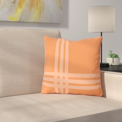 Billington Sand Outdoor Throw Pillow Color: Tangerine