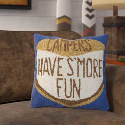 Rasmussen Smore Fun Campers Wool Throw Pillow