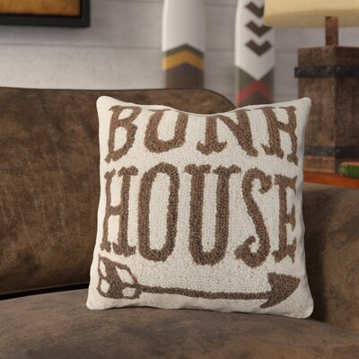 Rankin Bunk House Arrow Wool Throw Pillow