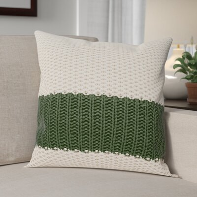 Girton Throw Pillow Color: Cream/Green
