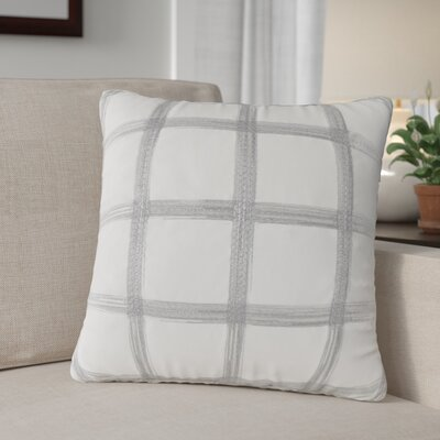 Sansone Embroidered 100% Cotton Throw Pillow