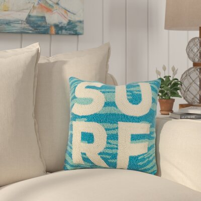 Hiott Surf Wool Throw Pillow