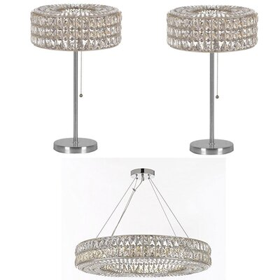 Royalton 3 Piece Ring Crystal 12-Light Crystal Chandelier
