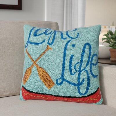 Rhem Lake Life Wool Throw Pillow