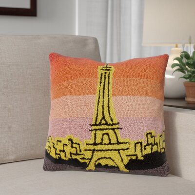 Mcneil Paris at Sunset Wool Throw Pillow