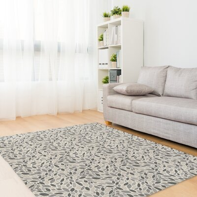 Hedgepeth Gray/Tan Area Rug Rug Size: Rectangle 8 x 10