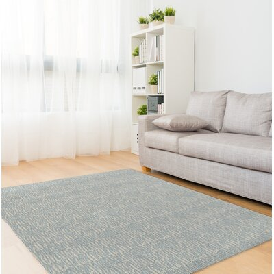 Ebert Light Blue/Gray Area Rug Rug Size: Rectangle 5 x 7