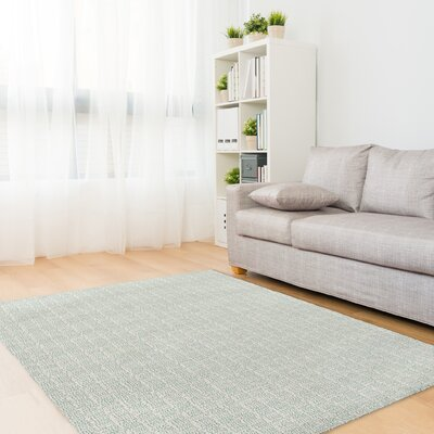 Lowenthal Green Area Rug Rug Size: Rectangle 5 x 7