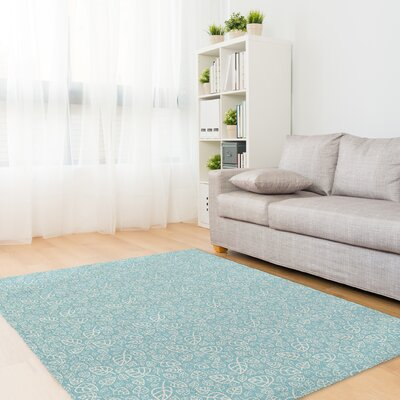 Decarlo Aqua Area Rug Rug Size: Rectangle 5 x 7