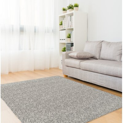 Decarlo Gray Area Rug Rug Size: Rectangle 8 x 10