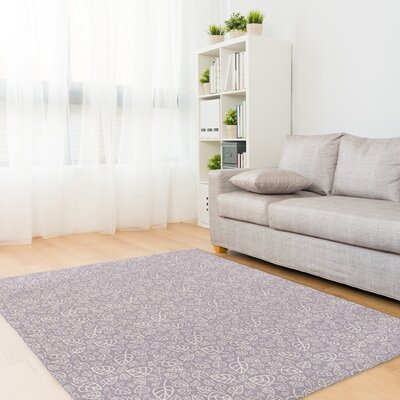 Decarlo Purple Area Rug Rug Size: Rectangle 5' x 7'