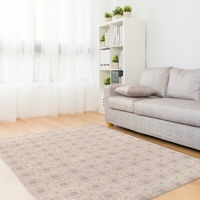 Pitchford Gray/Yellow Area Rug Rug Size: Rectangle 3' x 5'