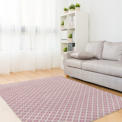 Babington Pink/Gray Area Rug Rug Size: Rectangle 3 x 5
