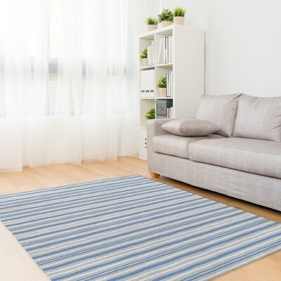 Evins Blue/Gray Area Rug Rug Size: Rectangle 8 x 10