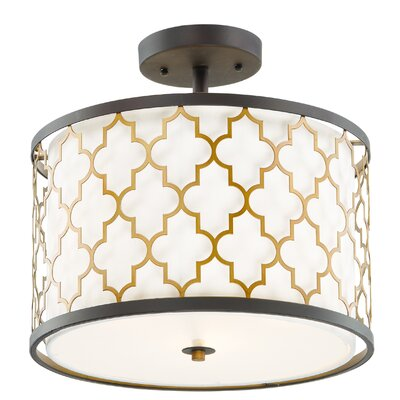 Lanning 3-Light Semi Flush Mount