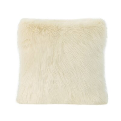 Hunziker Furry Faux Fur Throw Pillow Color: Taupe