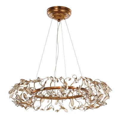 Pinion Crystal 8-Light Geometric Pendant