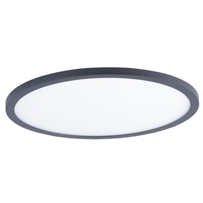 Crutcher 1-Light LED Flush Mount Fixture Finish: Bronze