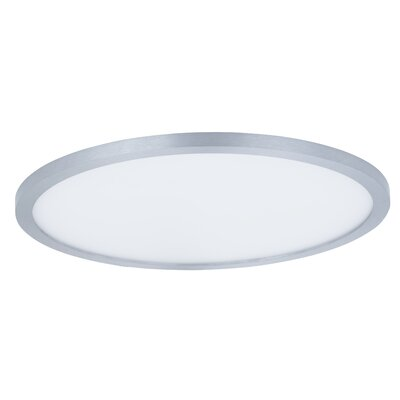 Crutcher 1-Light LED Flush Mount Fixture Finish: Satin Nickel