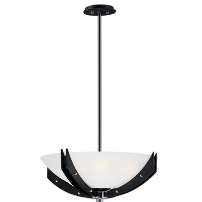 Fairgrove 4-Light Flush Mount Fixture Finish: Black/Wenge